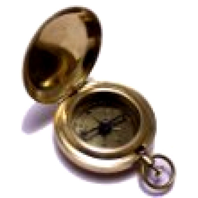 Antique Pocket Brass Compass Classic American Boy Scout Vintage Collectible Gift