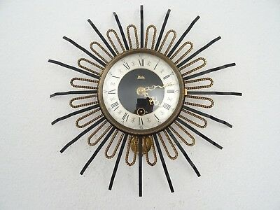 PLATO Star Wall Clock Vintage Dutch Art Deco Design Retro (Junghans Kienzle era)