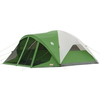 8-Person Tent with Screen Room Camping Large Shelter Coleman Evanston Polyester