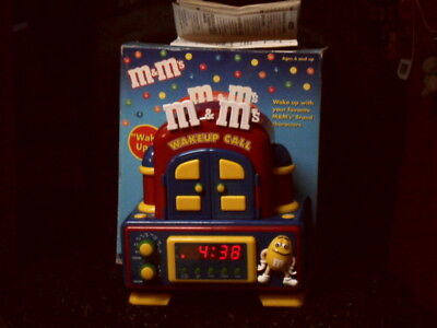 M&M's WakeUp Call Animated Clock Radio Official Merchandise M&M RARE