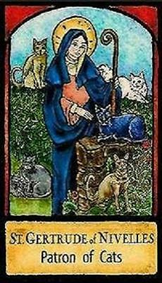 Saint Gertrude of Nivelles Patron of Cats Magnet #16