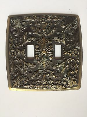 Vintage 1968 AMER TACK & HDWE Double Lightswitch Cover