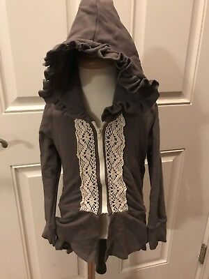 Persnickety Victoria Jacket Gray Hoodie Size 3 Years Euc