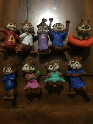 McDonalds Alvin and the CHIPMUNKS Happy Meal Toys Set Of 9 Pre-owned