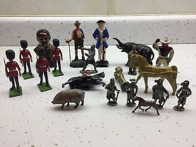 Assorted Vintage Metal Toy Military Soldiers,Animal Figures+++More