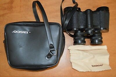 Tasco 8x30mm Binoculars, Black, With Case and Lens Covers and Cleaning Cloth