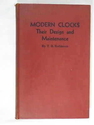Book Vintage Clock Watch Parts Repair Modern Clocks their Design & Maint. 1942