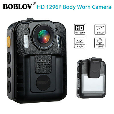 """Boblov 1296P FHD Police Body Camera Action Cam Video Camcorder Waterproof 2"""" LCD"""