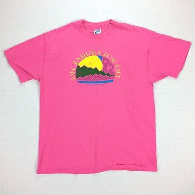 Vintage 90s Lake Junaluska Road Race T Shirt Womens XL Pink Runner Vaporwave V