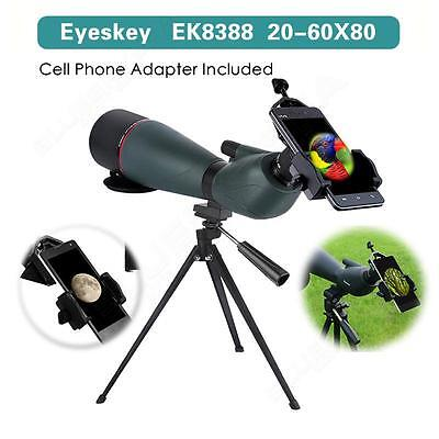 Eyeskey Angled Spotting Scope Telescope Monocular Soft Case Tripod+Phone Adaptor