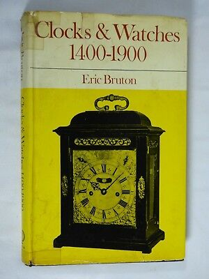 Book Vintage Clock Watch Parts Repair Clocks & Watches 1400-1900 by Eric Bruton