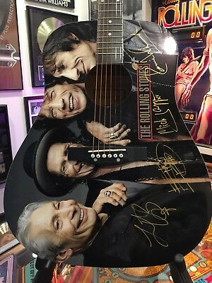 Rolling Stones Guitar Signed By Jagger,Richards,Woods,Watts Nashville TN