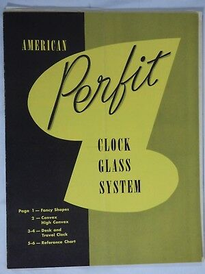 Book Vintage Clock Watch Parts Repair American Perfit Clock Glass System