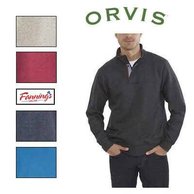 SALE Orvis Men's Signature 1/4 zip Pullover Sweater Sweatshirt COLOR VARIETY