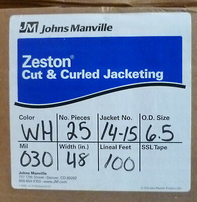 "Zeston PVC Cut & Curled Jacketing 30 Mil 48"" W 100' 25 pieces #14-15 (6.5 od)"