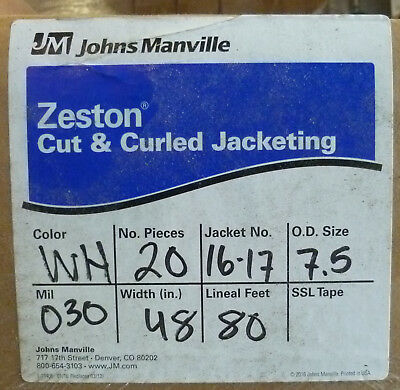 "Zeston PVC Cut & Curled Jacketing 30 Mil 48"" 80' 20 pieces #16-17 (7.5 od)"