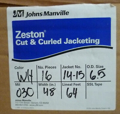 "Zeston PVC Cut & Curled Jacketing 30 Mil 48"" 64' 16 pieces #14-15 (6.5 od)"