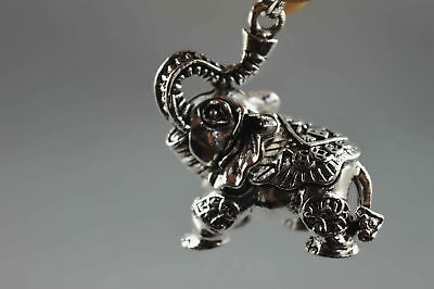 Exquisite Collectable Handwork Old Miao Silver Carve Elephant Auspicious Pendant