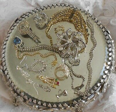 ****large Lot Antique & Vintage Jewelry All Rhinestones*****