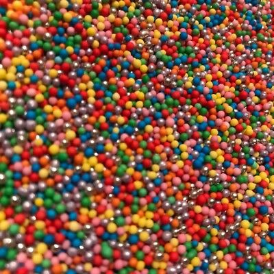 LUXURY RAINBOW 100s 1000s - EDIBLE Cupcake Sprinkles Cake Decoration Non Pareils