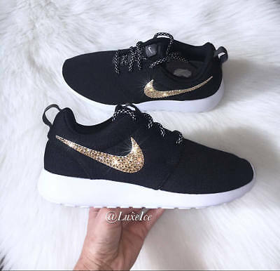 info for 81210 70aba BLING NIKE ROSHE One customized with SWAROVSKI Crystals ...