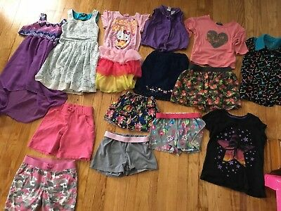 Large Lot Of Girls Play Clothes Size 7–8 Spring Summer Outfits Casual