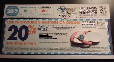Bed Bath Beyond Coupon 20% Off One Single Item In Store or Online