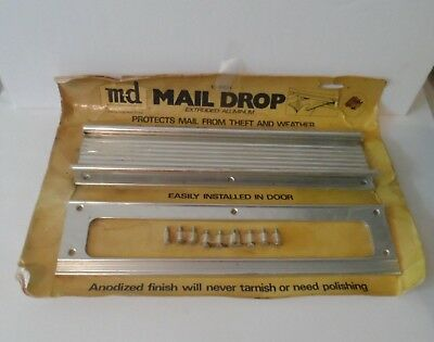 NEW vintage old stock MD Anodized Mail Drop Slot