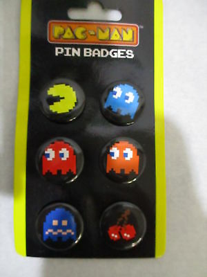 Case Of 96 Pac Man Pin Button Sets , New , Pacman