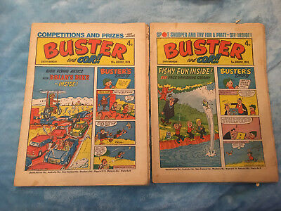 Buster and Cor Comics x2 3rd August and 10th August 1974