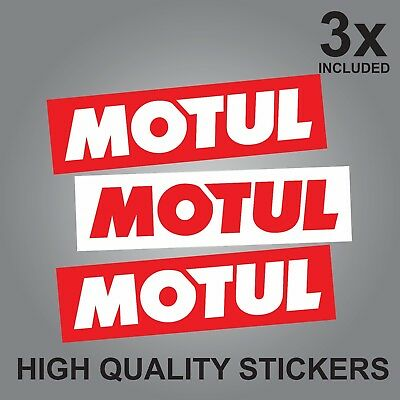 3x MOTUL CAR OIL QUALITY PRINTED STICKERS LUBE LUBRICANTS