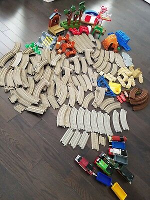 Large lot of Thomas the train trackmaster and tracks and accessories