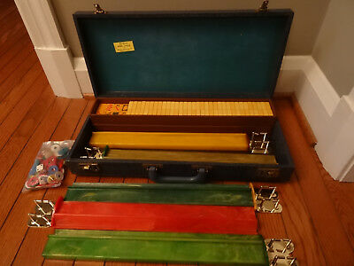 Vintage Cardinal Mah Jongg Set 158 Tiles 5 Racks with Case Catalin/Bakelite