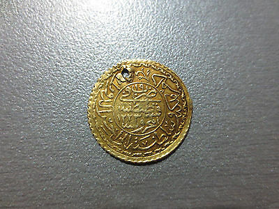 LARGE OTTOMAN GOLD TURKISH TURKEY ISLAMIC COIN VERY RARE 1.6gram #004
