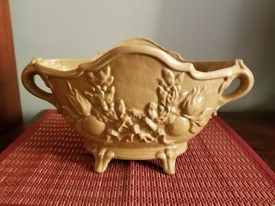"French Antique Cast Iron Jardiniere Planter - Measures 14"" Handle to Handle"