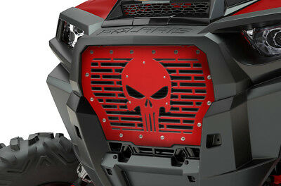 Custom Steel Grille for 2017+ Polaris RZR Turbo 1000 XP Grill RZR Red PUNISHER