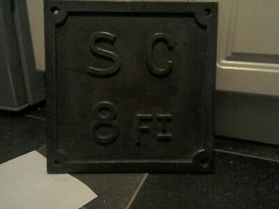 vintage reclaimed cast iron sign very heavy duty polished