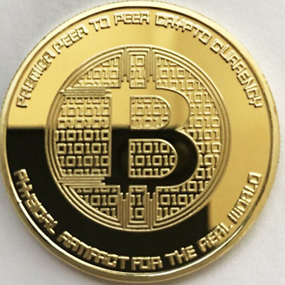 Best Gold Silk Road Bitcoin BTC Coin Commemorative Coins Collectible Art Gift