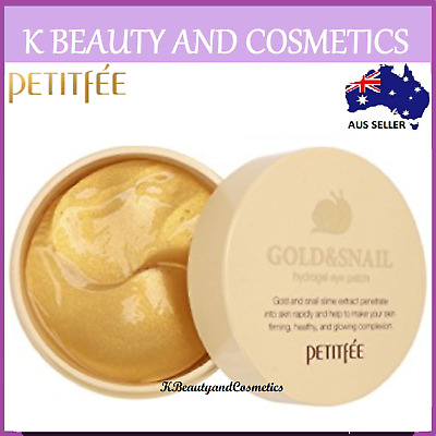 [PETITFEE] Gold & Snail Hydrogel Eye Patch 60 sheets Firming And Anti-Aging Mask