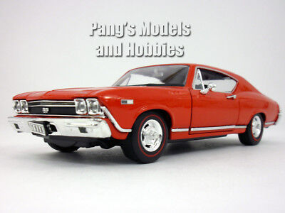 Chevrolet Chevelle (1968) SS-396 1/24 Scale Diecast Metal Model by Welly - RED