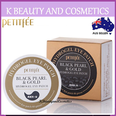 PETITFEE] Black Pearl & Gold Hydrogel Eye Patch (60 sheets) Eye And Lifting Mask