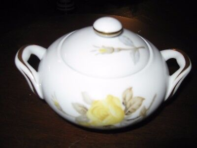 Cotillion Yellow Rose (Coupe) by Sango Sugar Bowl & Lid