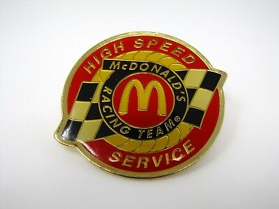 Vintage Collectible Pin: McDonald's Racing Team High Speed Services
