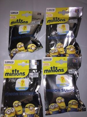Despicable Me Minion Surprise Blind Bags Lot Of 4 New Sealed Free Shipping!