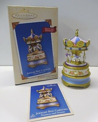 Hallmark Ornament 2003 Jewelry Box Carousel * Non-Working  ** FREE SHIPPING**