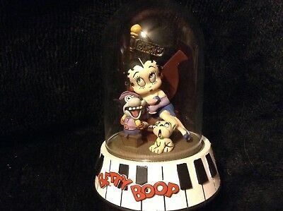 "Betty Boop ""Bourbon Street"" Hand Painted Sculpture 1995 Limited Edition Domed"