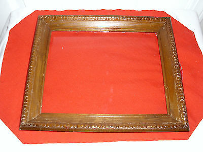 Vintage Solid Wood Carved Picture Frame w/Glass