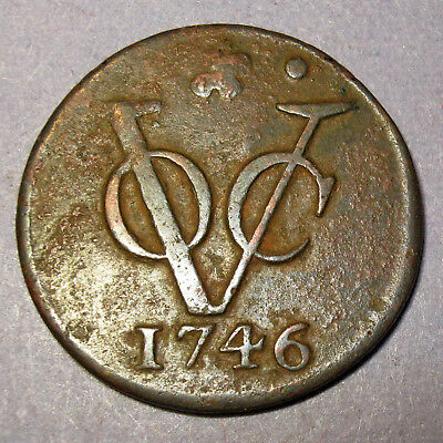 Certificate of Authenticity 1746 New York Penny VOC Holland Dutch Colonial Penny