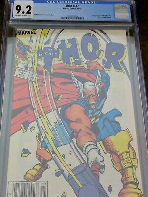 Thor # 337 CGC 9.2 Newsstand 1983 1st Appearence Beta Ray Bill Key NM-