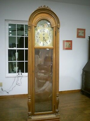 Herschede 9 tube grandfather clock case only circa 1950's